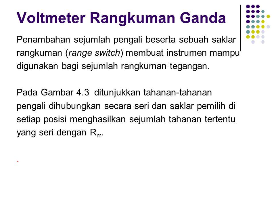 Voltmeter Rangkuman Ganda