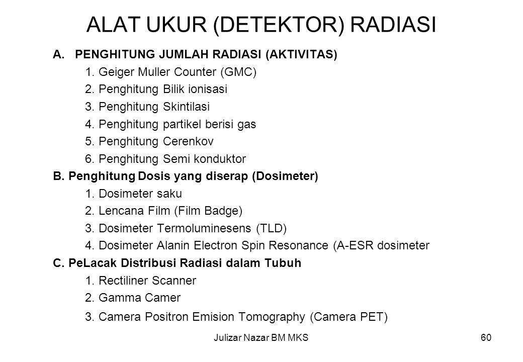 ALAT UKUR (DETEKTOR) RADIASI