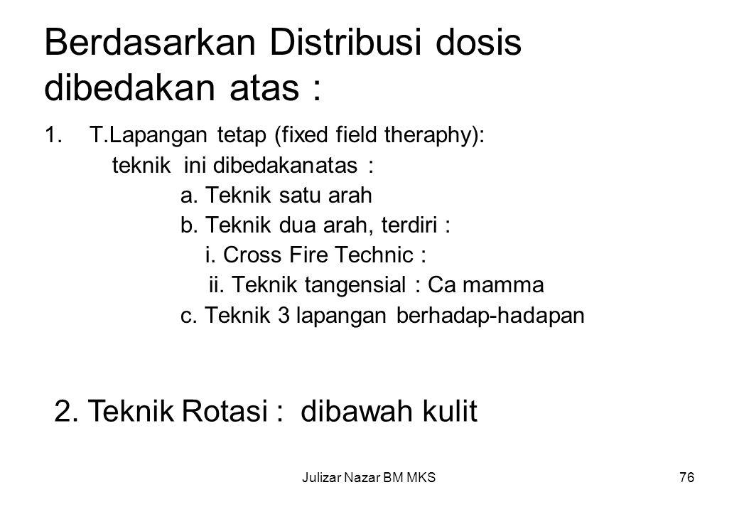 Berdasarkan Distribusi dosis dibedakan atas :