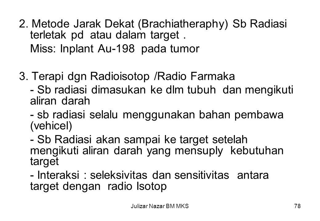 Miss: Inplant Au-198 pada tumor