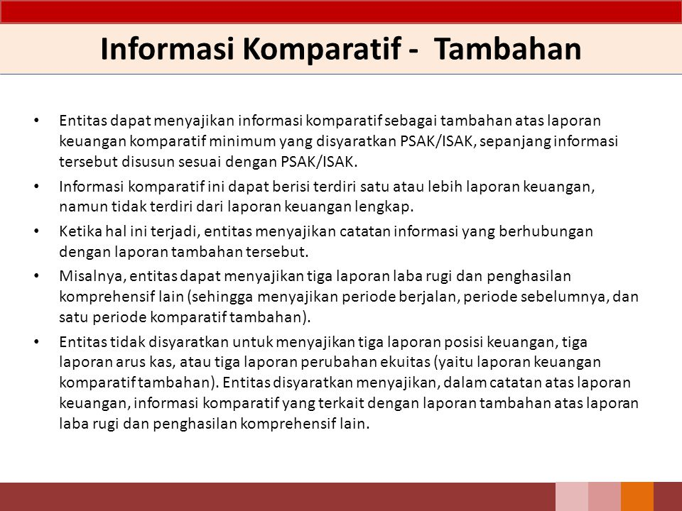 Informasi Komparatif - Tambahan