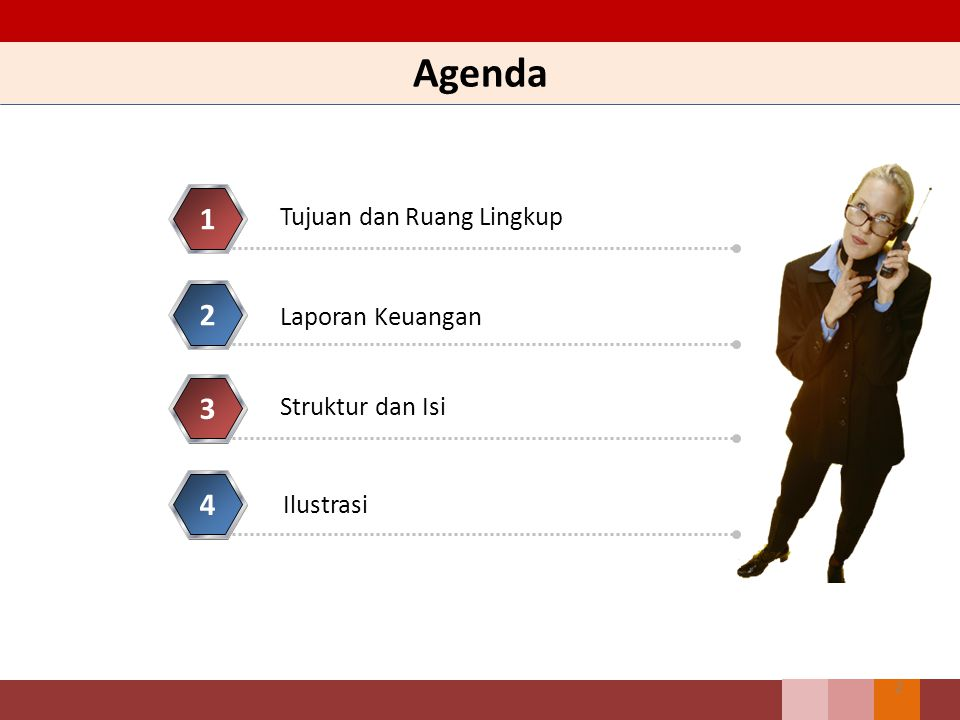 Agenda 1 2 3 4 Tujuan dan Ruang Lingkup Laporan Keuangan
