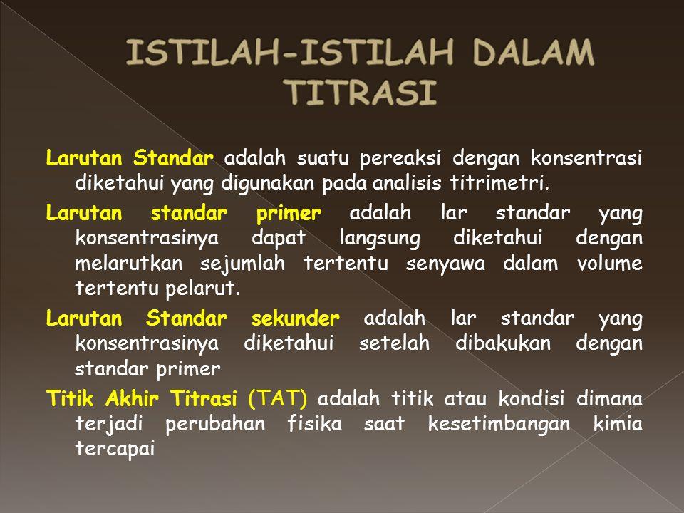 ISTILAH-ISTILAH DALAM TITRASI