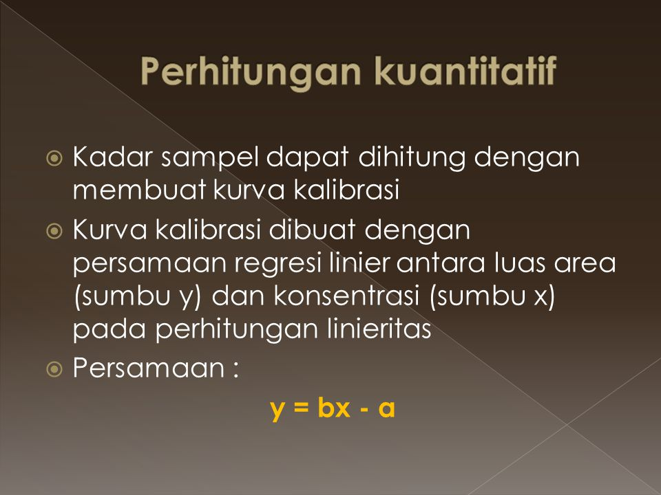 Perhitungan kuantitatif