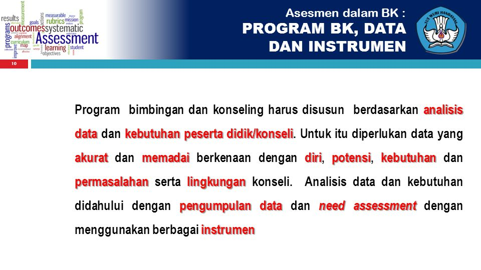 PROGRAM BK, DATA DAN INSTRUMEN