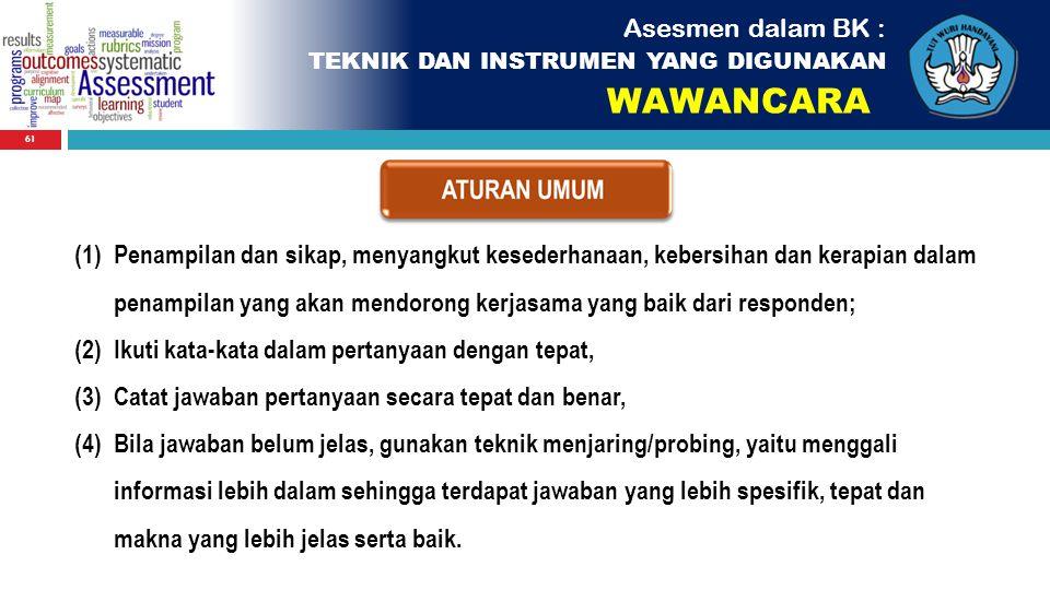 WAWANCARA Asesmen dalam BK :