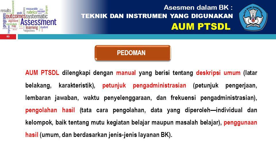 AUM PTSDL Asesmen dalam BK : PEDOMAN