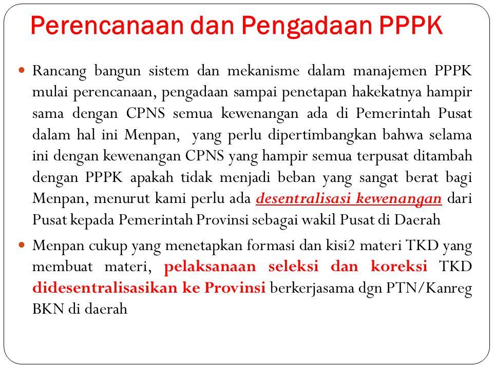 Perencanaan dan Pengadaan PPPK