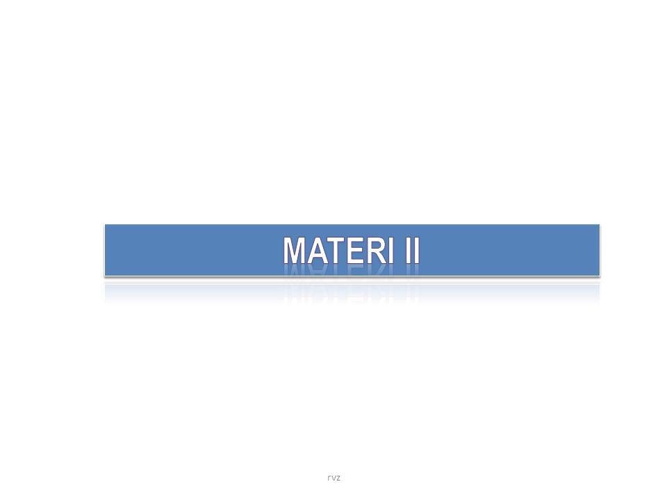 MATERI II rvz