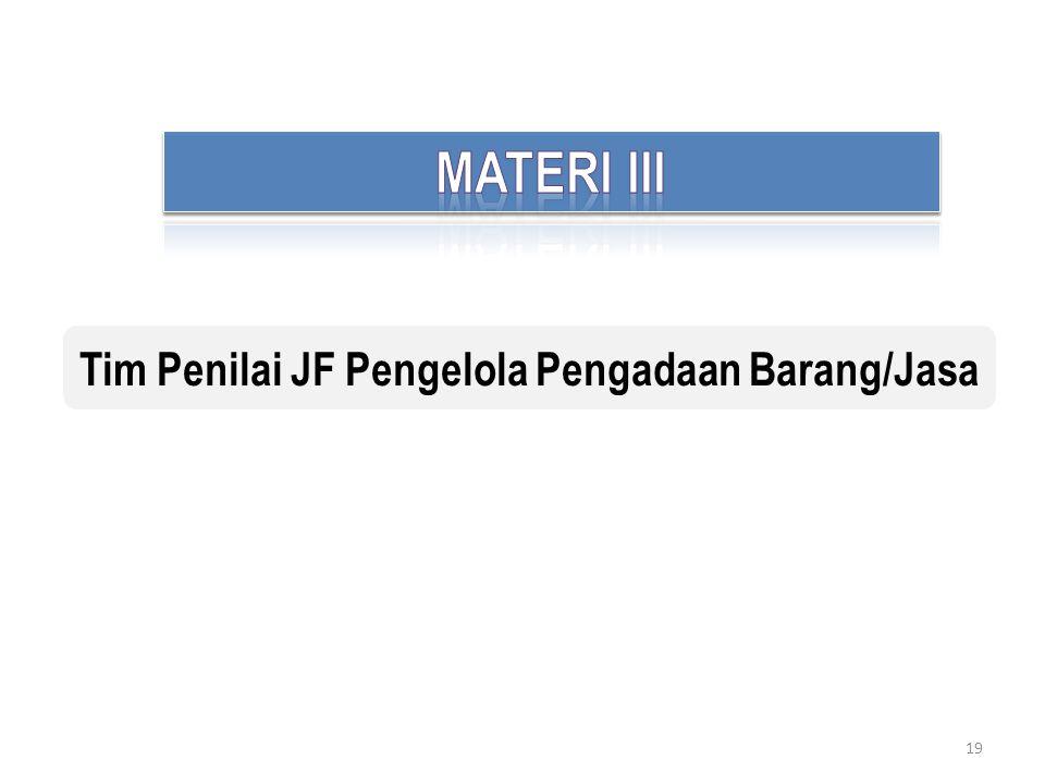 Tim Penilai JF Pengelola Pengadaan Barang/Jasa
