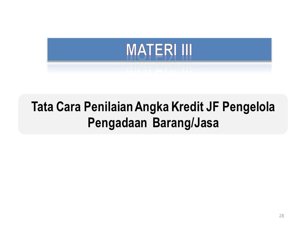 Tata Cara Penilaian Angka Kredit JF Pengelola Pengadaan Barang/Jasa