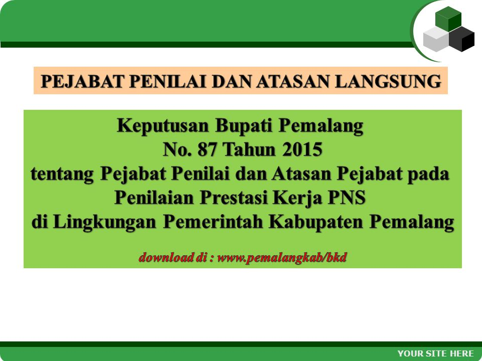 Keputusan Bupati Pemalang No. 87 Tahun 2015