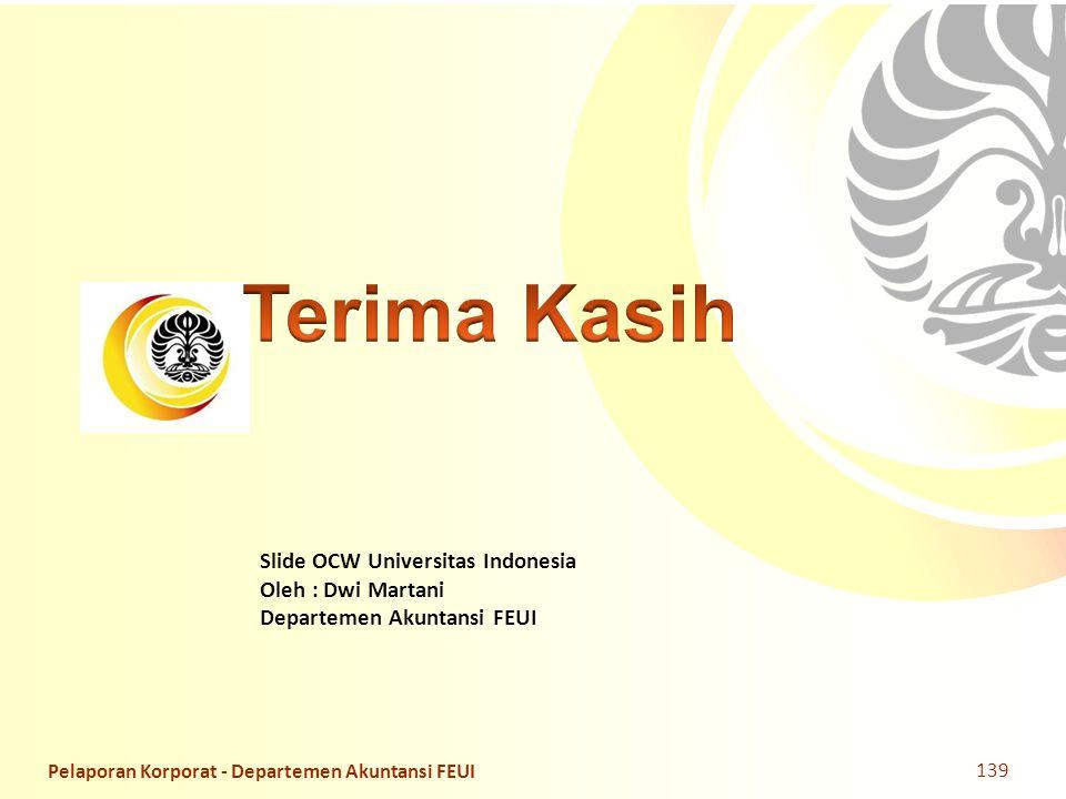 Terima Kasih Pelaporan Korporat - Departemen Akuntansi FEUI