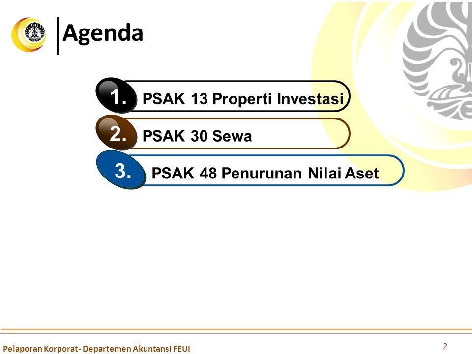 Agenda 1. 2. 3. PSAK 13 Properti Investasi PSAK 30 Sewa
