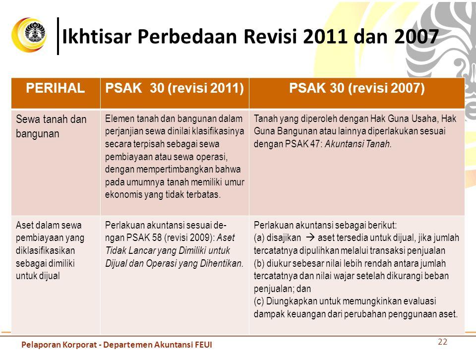 Ikhtisar Perbedaan Revisi 2011 dan 2007