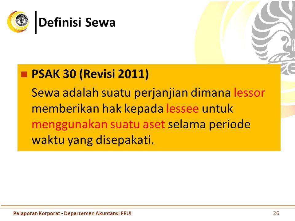 Definisi Sewa PSAK 30 (Revisi 2011)