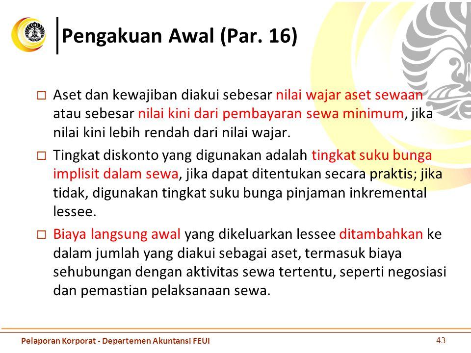 Pengakuan Awal (Par. 16)