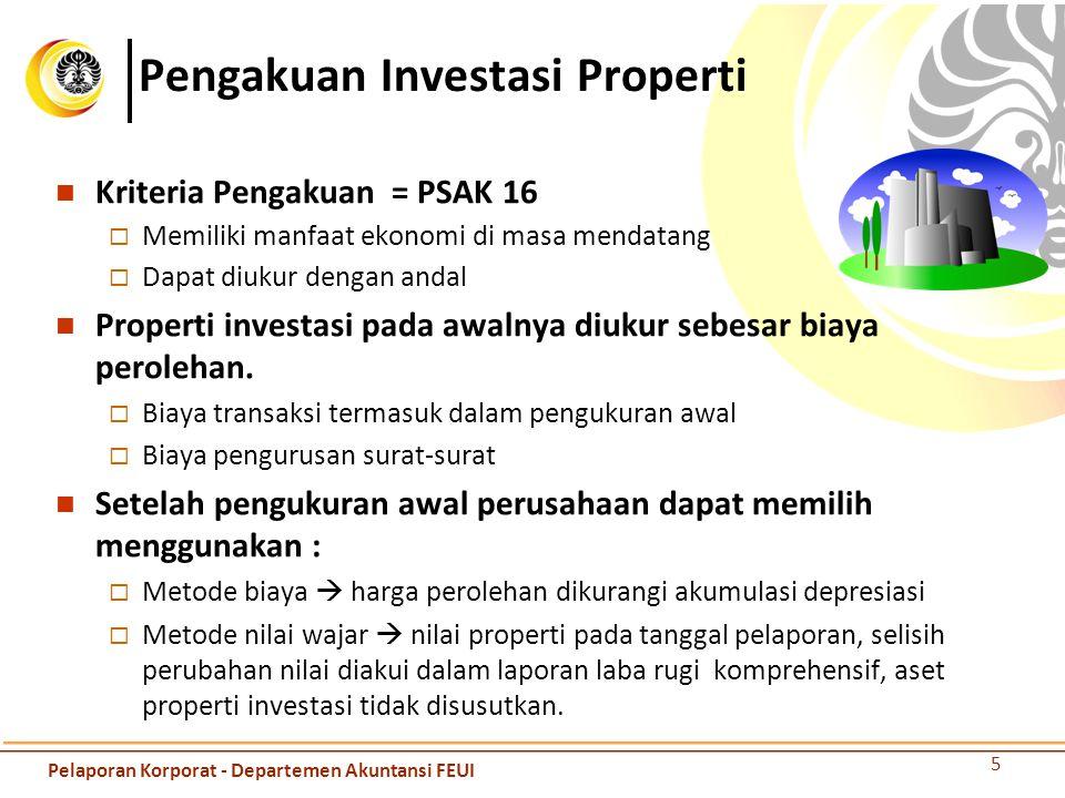 Pengakuan Investasi Properti