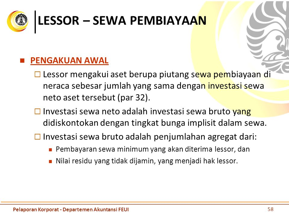 LESSOR – SEWA PEMBIAYAAN