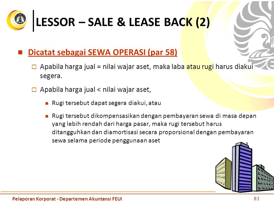 LESSOR – SALE & LEASE BACK (2)