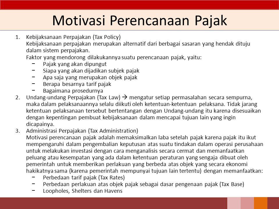 Motivasi Perencanaan Pajak