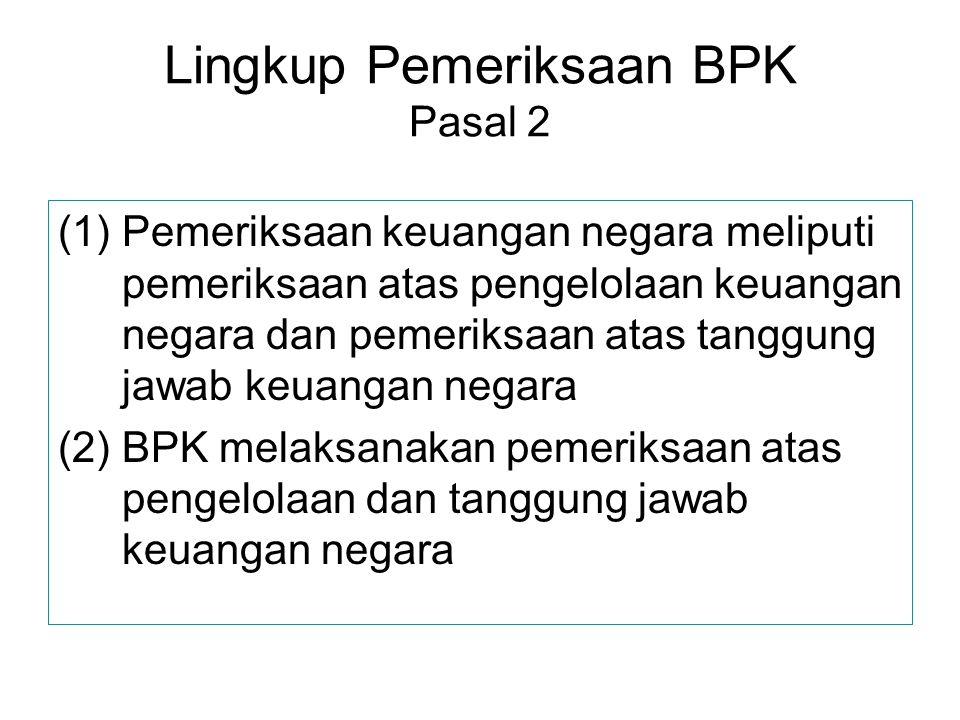 Lingkup Pemeriksaan BPK Pasal 2