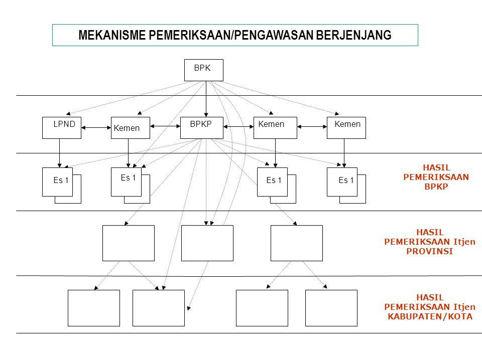 MEKANISME PEMERIKSAAN/PENGAWASAN BERJENJANG