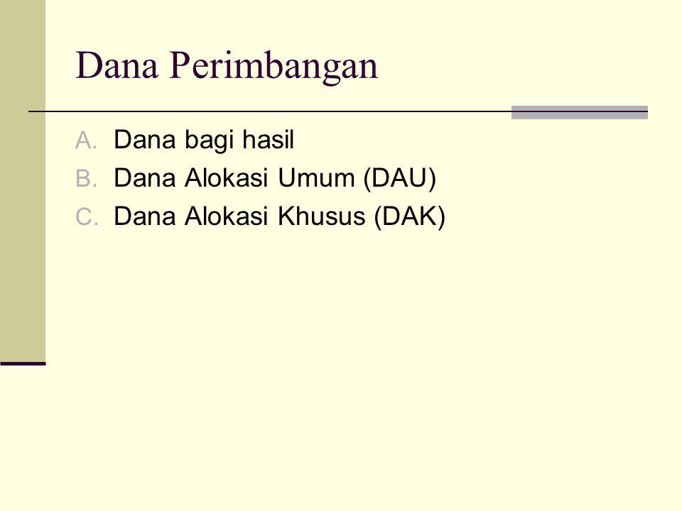 Dana Perimbangan Dana bagi hasil Dana Alokasi Umum (DAU)