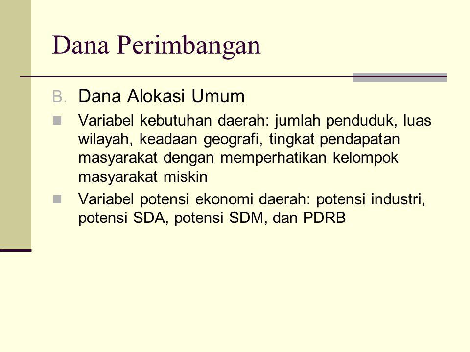 Dana Perimbangan Dana Alokasi Umum