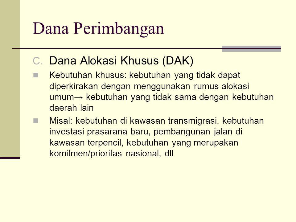 Dana Perimbangan Dana Alokasi Khusus (DAK)