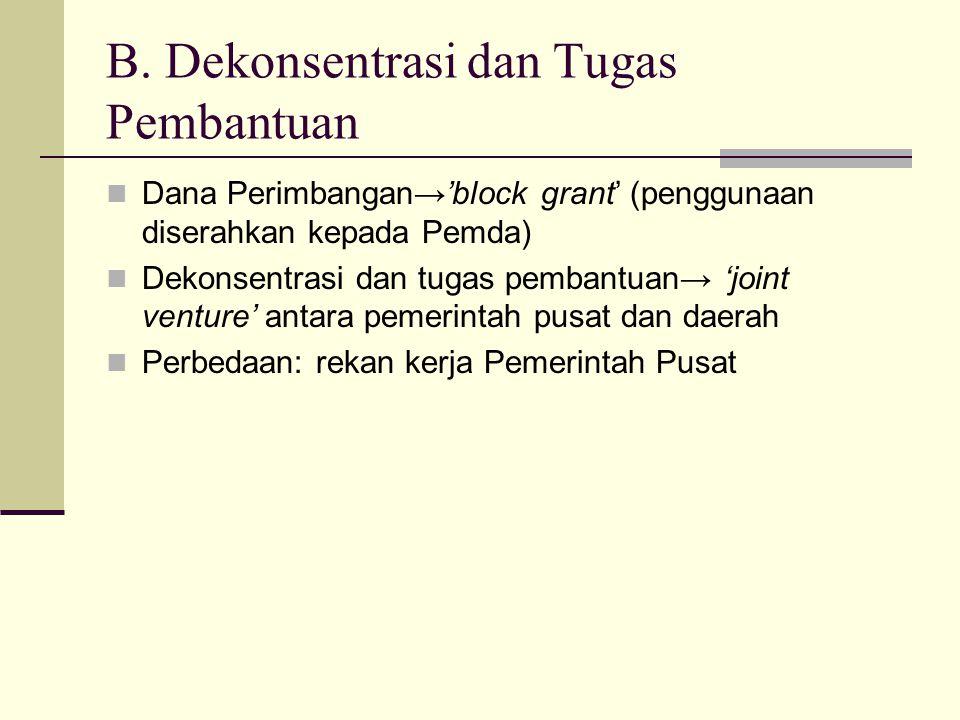 B. Dekonsentrasi dan Tugas Pembantuan