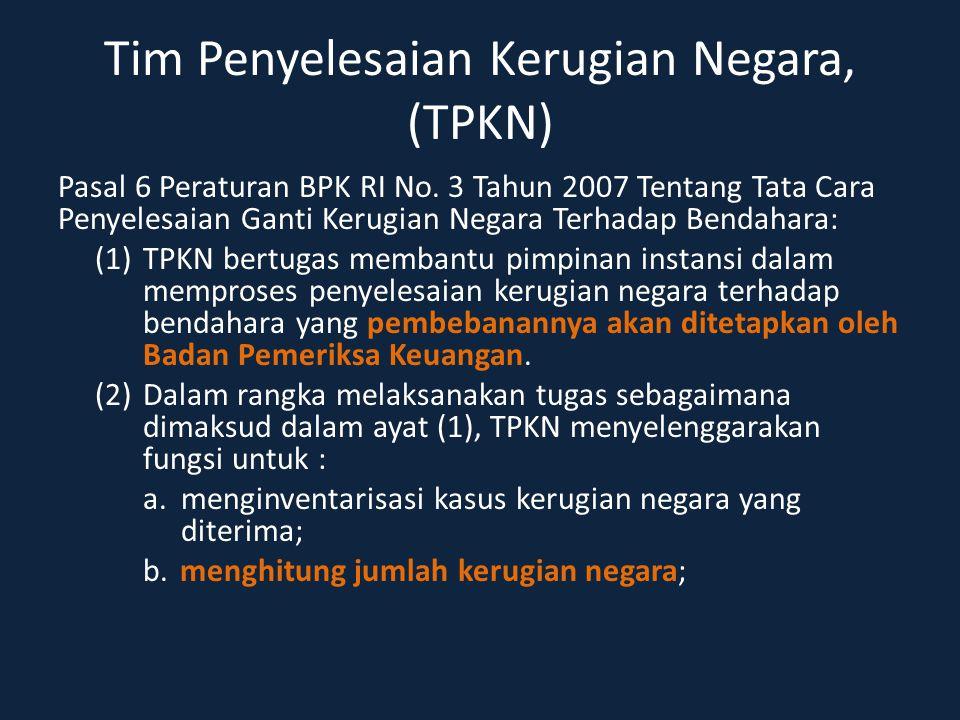 Tim Penyelesaian Kerugian Negara, (TPKN)
