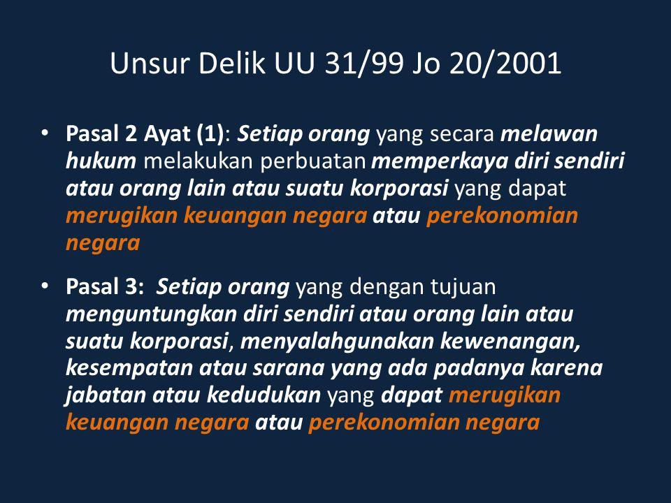 Unsur Delik UU 31/99 Jo 20/2001