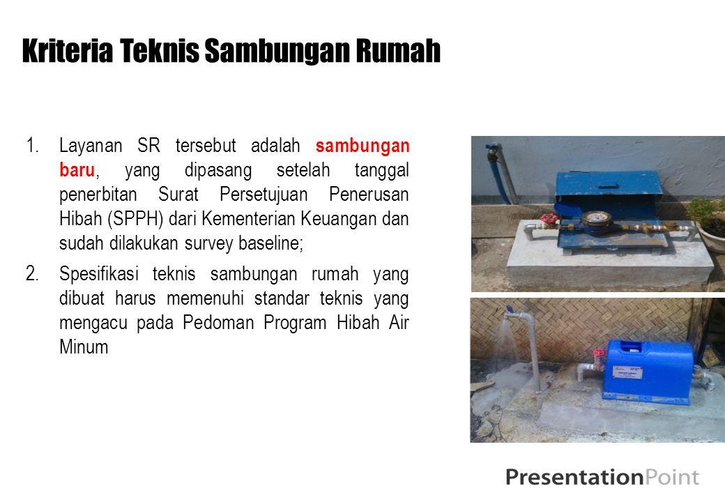 Kriteria Teknis Sambungan Rumah