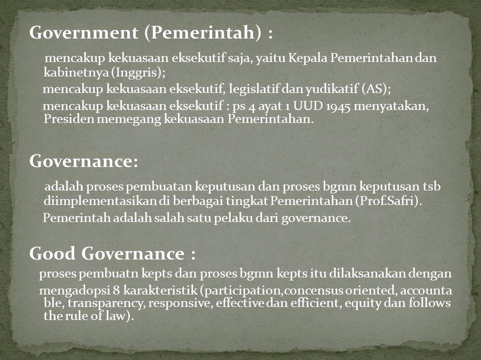 Government (Pemerintah) :