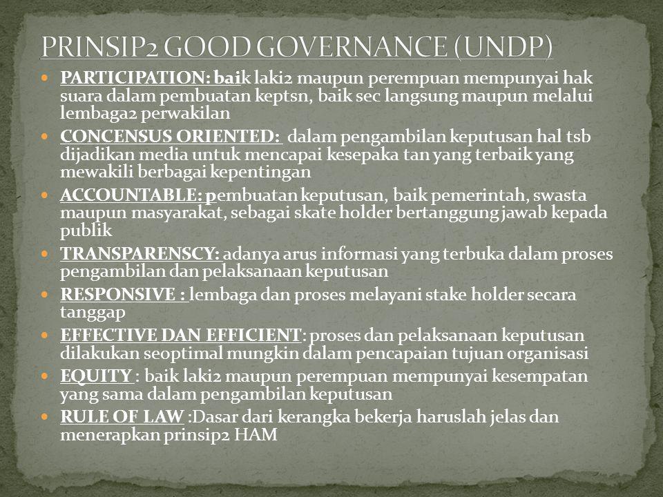 PRINSIP2 GOOD GOVERNANCE (UNDP)