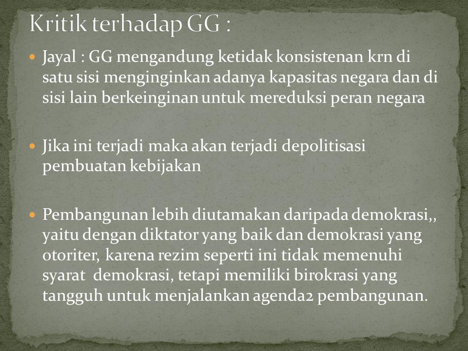 Kritik terhadap GG :