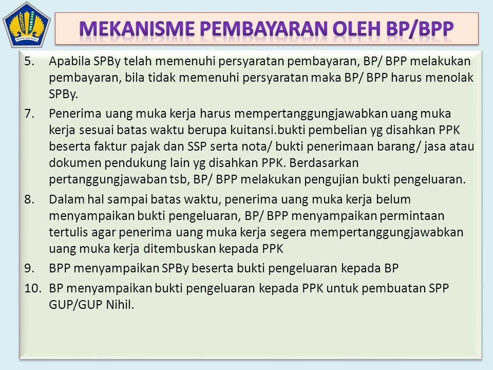 Mekanisme Pembayaran Oleh BP/BPP