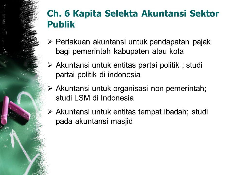 Ch. 6 Kapita Selekta Akuntansi Sektor Publik