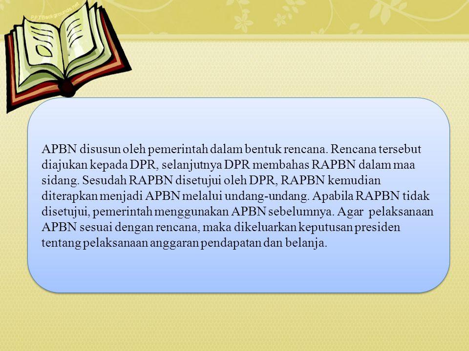 APBN disusun oleh pemerintah dalam bentuk rencana