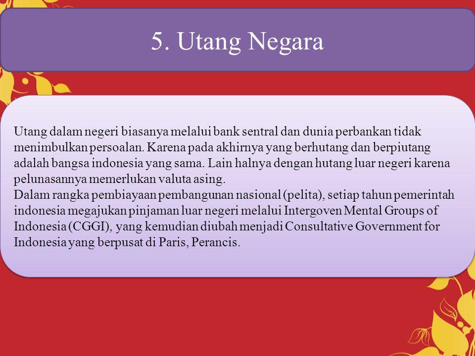 5. Utang Negara