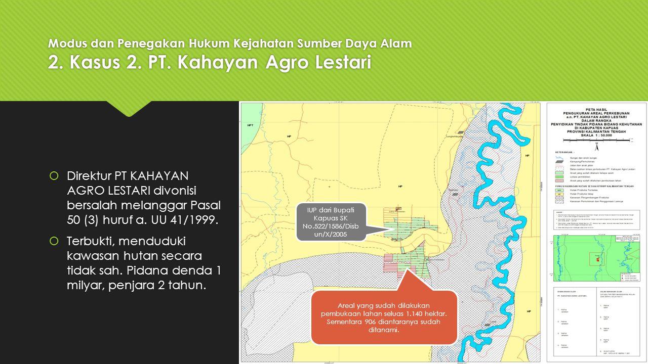 IUP dari Bupati Kapuas SK No.522/1586/Disbun/X/2005