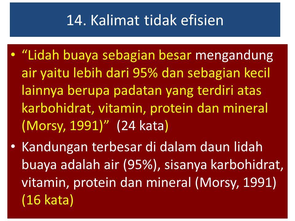 14. Kalimat tidak efisien
