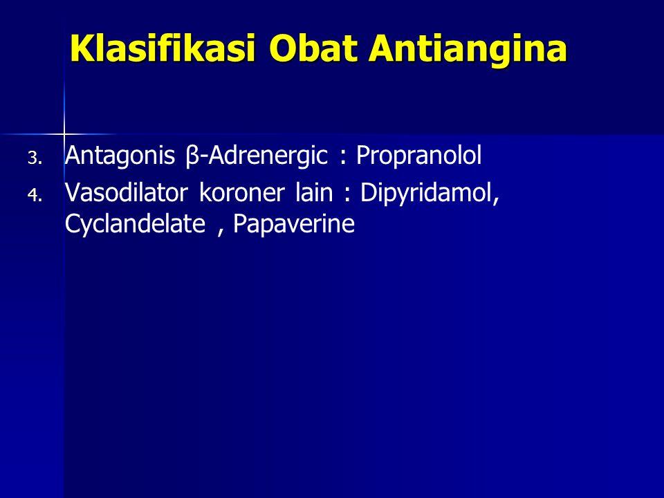 Klasifikasi Obat Antiangina