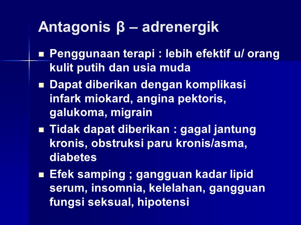 Antagonis β – adrenergik