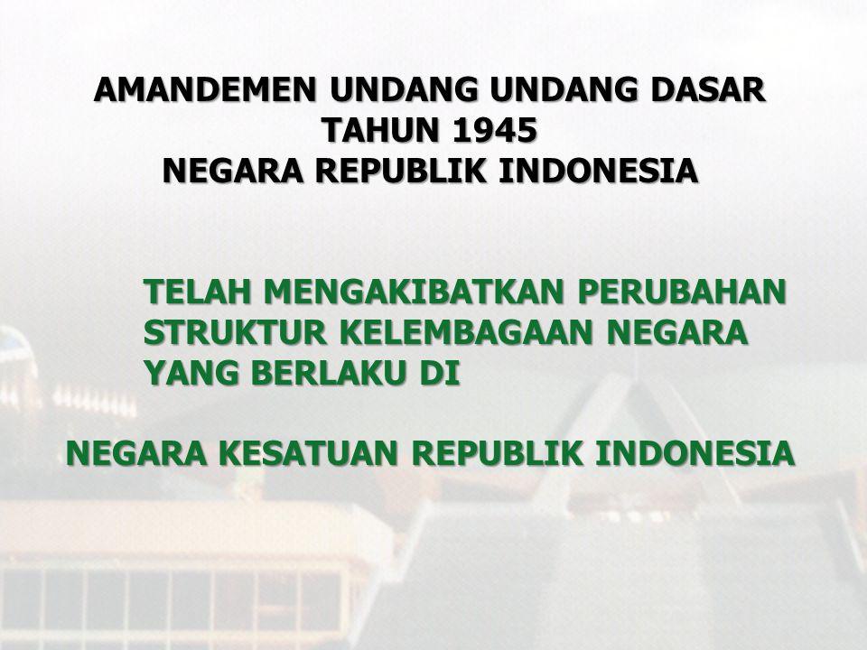 AMANDEMEN UNDANG UNDANG DASAR TAHUN 1945 NEGARA REPUBLIK INDONESIA