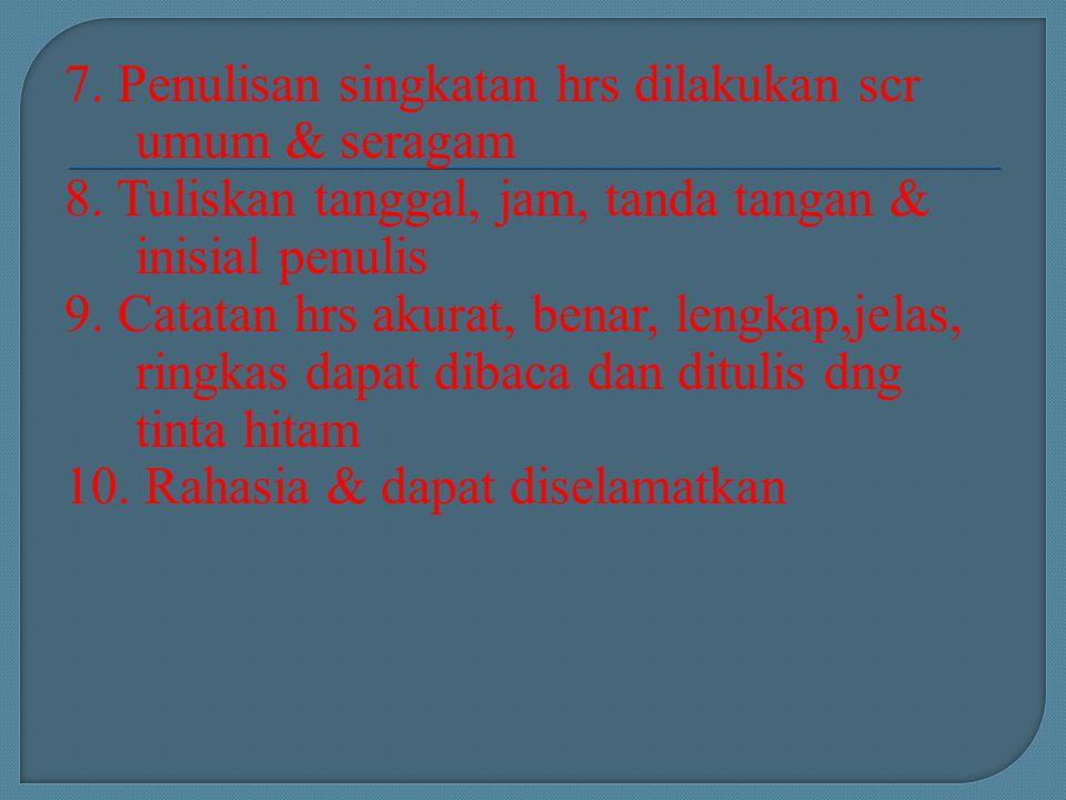 7. Penulisan singkatan hrs dilakukan scr umum & seragam 8