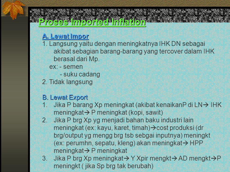 Proses Imported Inflation