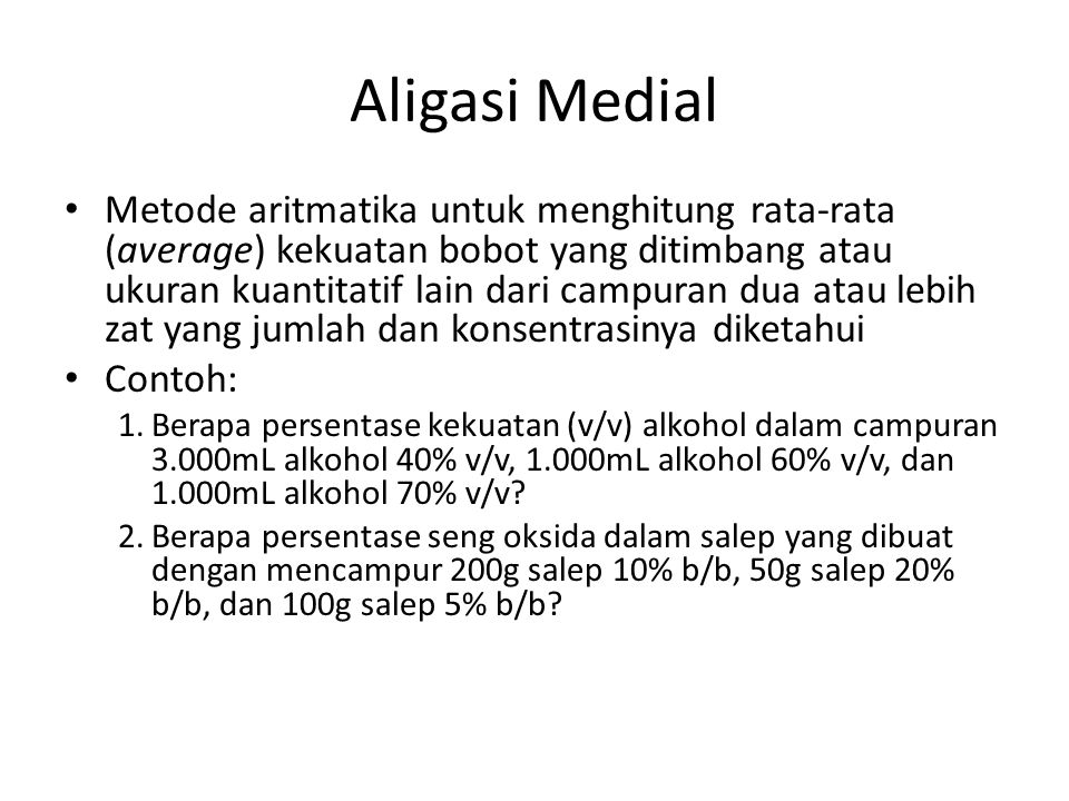 Aligasi Medial
