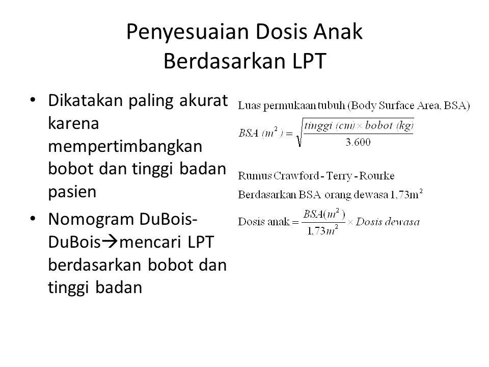 Penyesuaian Dosis Anak Berdasarkan LPT